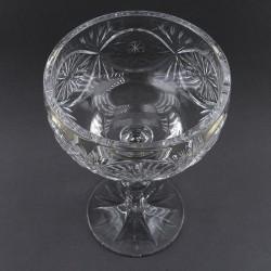 Хрустальная ваза для стола - конфетница на ножке, арт. 4127