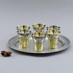 "Набор для крепких напитков: поднос + рюмки, 6шт. ""Березка"", арт. 4130"