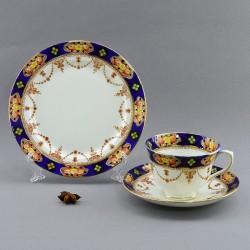 """Чайное трио """"Бутоны в кобальте"""" , арт. 4158"""