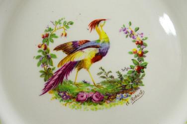 """Тарелка """"Райская птица"""" 22,7см, арт. 4178"""