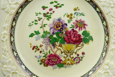 """Тарелка """"Ваза с цветами"""" 19*19см., арт. 4181"""