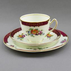 """Чайное трио """"Цветы на бордо"""", арт. 4192"""
