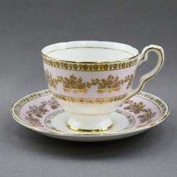 """Чайная пара """"Золото на розовом"""", арт. 4206"""