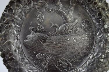 "Тарелка декоративная ""Павлины на сакуре"" 20см, арт. 4217"