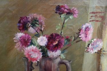 """Картина живопись """"Натюрморт. Астры и яблоки"""", арт. 4220"""