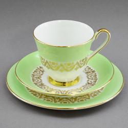 Чайное трио нежно салатовое с золотом, арт. 4260