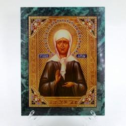 """Икона настенная из змеевика """"Святая Матрона"""" , арт. 4271"""