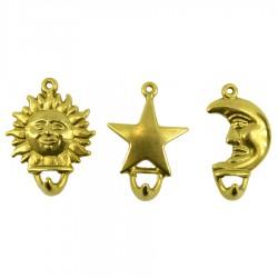 """Вешалка из 3-х """"Солнце, месяц, звезда"""" 6*8см, арт. 4319"""