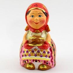 Фигурка гипсовая ''Бабка с караваем'' экс. 11см., арт.4320