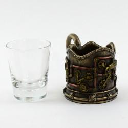 Подстаканник со стаканом в стиле Стимпанк , арт. WS-276 (4343)