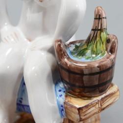 """Фигурка """"Банька. Девушка с ведром"""" майолика, арт. 4467"""