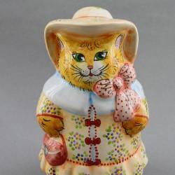 "Фигурка ""Кошечка в шляпке"" майолика, арт. 4475"