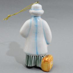 "Фигурка елочная игрушка ""Айболит"" майолика, арт. 4477"
