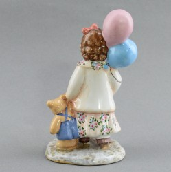 """Фигурка """"Девочка с шарами"""" майолика, арт. 4478"""