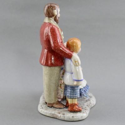 """Фигурка """"Семейное фото"""" майолика, арт. 4480"""