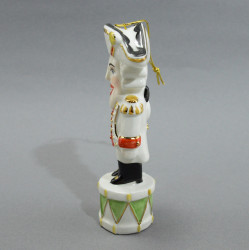 """Фигурка елочная игрушка """"Щелкунчик на барабане"""" майолика, арт. 4491"""