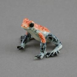 "Фигура миниатюра ""Лягушка розово-серая"", арт. 4565"