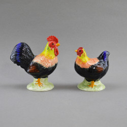 "Фигура миниатюра пара ""Петух и курица"", арт. 4580(81)"