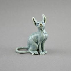 "Фигура миниатюра пара ""Кошка сфинкс серая"", арт. 4584"