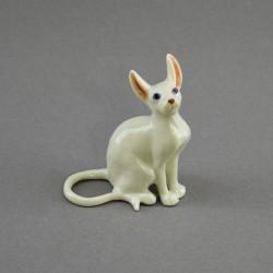 "Фигура миниатюра ""Кошка сфинкс белая"", арт. 4585"