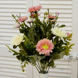 """Цветок искусственный букет """"Ромашка"""" цвет роз./бел. 37см, арт. 4619"""