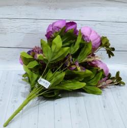 """Цветок искусственный букет """"Пион и гортензия"""" цвет фиолет. 50см, арт. 4621"""