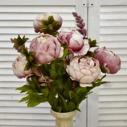 """Цветок искусственный букет """"Пион и гортензия"""" цвет пыльная роза 50см, арт. 4621"""