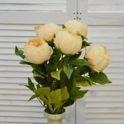 """Цветок искусственный букет """"Пион закрытый"""" цвет крем. 55см, арт. 4622"""