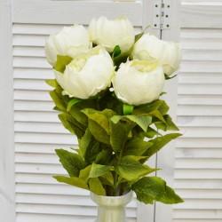 """Цветок искусственный букет """"Пион закрытый"""" цвет молочный. 55см, арт. 4622"""