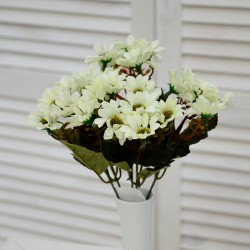 """Цветок искусственный букет """"Ромашка"""" мал. цвет молочный. 28см, арт. 4623"""