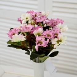 """Цветок искусственный букет """"Ромашка"""" мал. цвет роз./мол.. 28см, арт. 4623"""