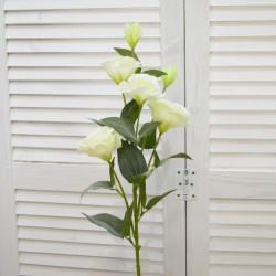 """Цветок искусственный ветка """"Эустома"""" белая, 80см, арт. 4624"""