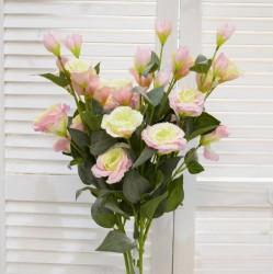 """Цветок искусственный ветка """"Эустома"""" роз., 80см, арт. 4624"""