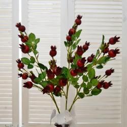 """Цветок искусственный ветка """"Шиповник"""" 70см, арт. 4628"""