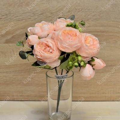 """Цветок искусственный букет """"Пиончики Элантра"""" 30см, арт. 4632/2"""