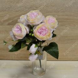 """Цветок искусственный букет """"Пиончики Элантра"""" 30см, арт. 4632/4"""