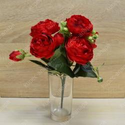 """Цветок искусственный букет """"Пиончики Элантра"""" красный 30см, арт. 4632/9"""