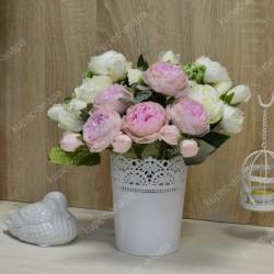 """Цветок искусственный букет """"Пиончики Элантра"""" розовый 30см, арт. 4632/7"""