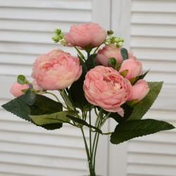 """Цветок искусственный букет """"Пиончики Элантра"""" цвет пыльная роза. 30см, арт. 4632"""