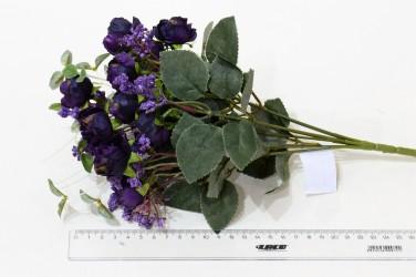 """Цветок искусственный букет """"Пиончики Пунто"""" фиолетовые. 34см, арт. 4633"""