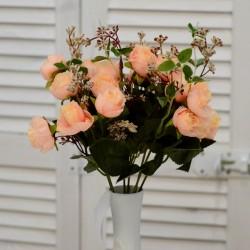 """Цветок искусственный букет """"Пиончики Пунто"""" крем 34см, арт. 4633"""