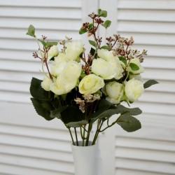 """Цветок искусственный букет """"Пиончики Пунто"""" бел. 34см, арт. 4633"""