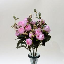 """Цветок искусственный букет """"Пиончики Пунто"""" розовый. 34см, арт. 4633"""