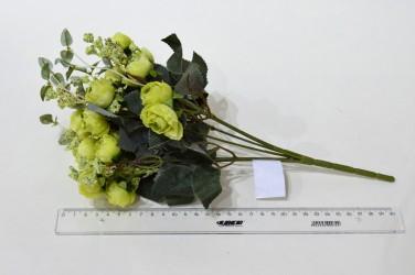 """Цветок искусственный букет """"Пиончики Пунто"""" салатовый. 34см, арт. 4633"""