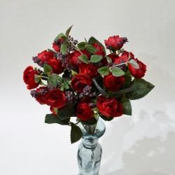 """Цветок искусственный букет """"Пиончики Пунто"""" красный. 34см, арт. 4633"""