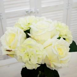 """Цветок искусственный букет свадебный срез """"Роза + гортензия"""" бел., арт. 4639"""