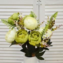 """Цветок искусственный букет """"Пион + папоротник"""" прованс, арт. 4640"""