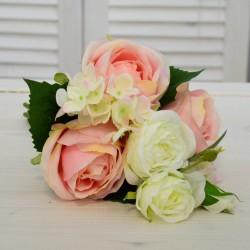"""Цветок искусственный букет срез """"Роза + гортензия"""" роз. 30см., арт. 4643"""