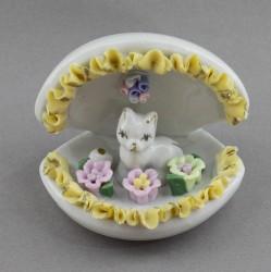 "Статуэтка ""Котик в раковине с цветами"", арт. 4644"