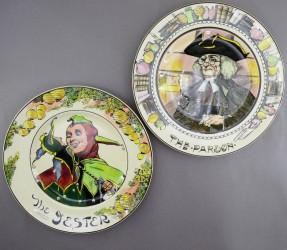 "Тарелка декоративная 2шт. ""Шут и мужчина"" 27см, арт. 4668"